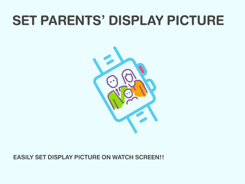 SET PARENTS' DISPLAY PICTURE EASILY SET DISPLAY PICTURE ON WATCH SCREEN!!