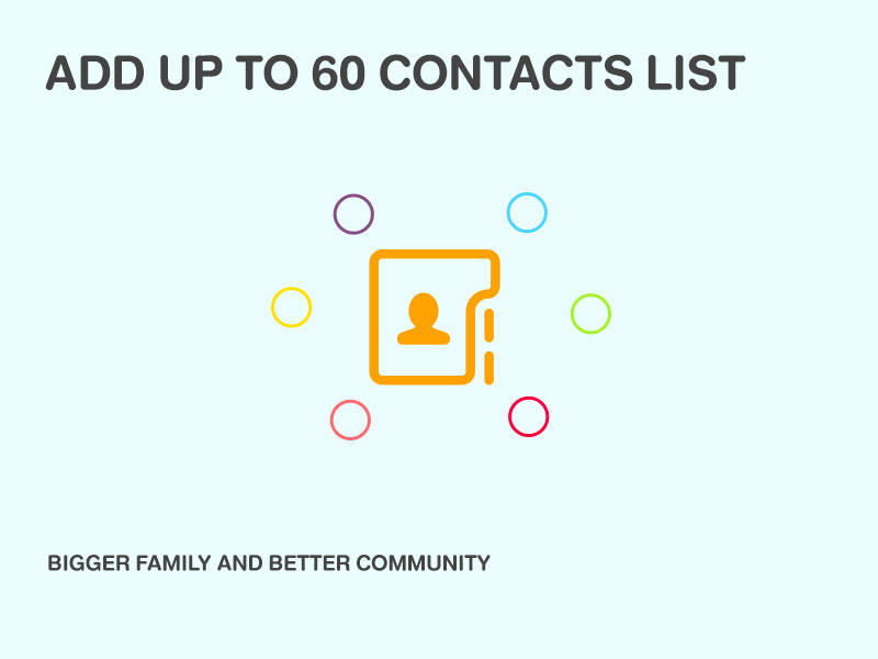 ADD UP TO 60 CONTACTS LIST BIGGER FAMILY AND BETTER COMMUNITY